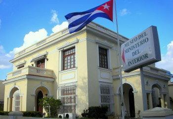 Edificio principal del museo de los espías, perteneciente al Ministerio del Interior y situado en la Quinta Avenida de La Habana
