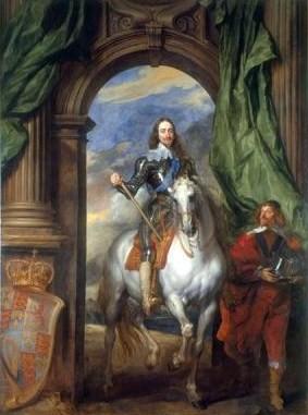 Rey montado a caballo  (1633), de Anthony van Dyck (1599-1641), perteneciente a la Colección Real británica, que forma parte de la exposición Van Dyck y Gran Bretaña