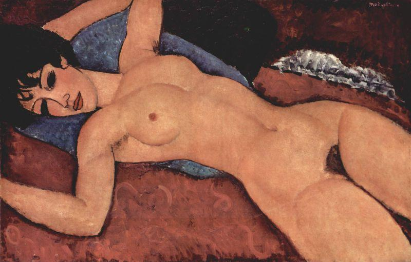 Desnudo rojo. Amadeo Modigliani. 1917