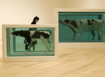 Obra de Damien Hirst 'Mother and child divided'