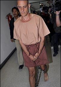Las imágenes de Nicolaides en la prisión causaron conmoción en Australia.