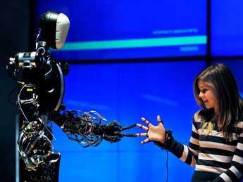 Berti ha sido el protagonista de la exposición, probablemente el robot más ingenioso del mundo.