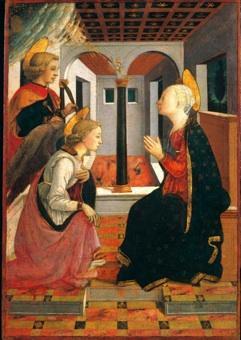 Anunciación en presencia de San Julián de Filippo Lippi
