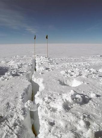 Imagen del Polo Sur captada en Enero de 2009