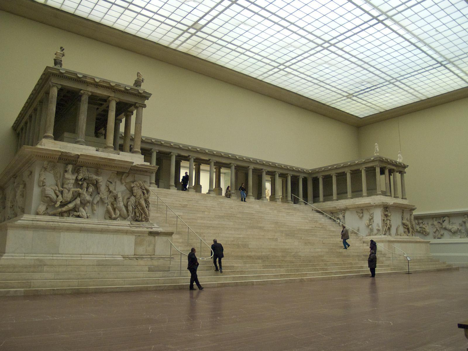 Altar de Zeus en el Museo de Pérgamo de Berlín