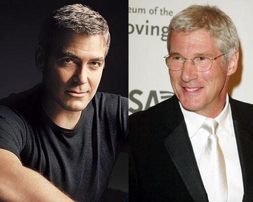 Richard Gere y George Clooney son considerados dos de los galanes más afamados de Hollywood y sus canas se han convertido en una particular y sensual marca personal