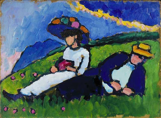 """""""Jalensky y Werefkin"""" (1909), de Gabriele Münters"""