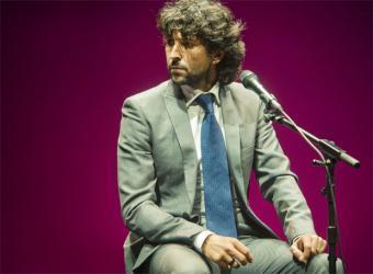 El cantaor de flamenco Arcángel, durante su actuación en la pasada Bienal de Flamenco de Sevilla