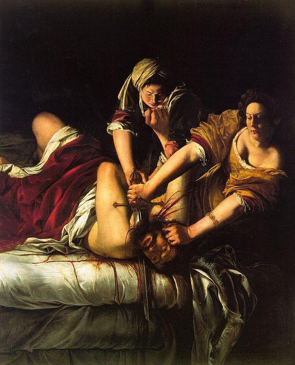 El lienzo «Judith y Holofernes», pintado por Artemisia Gentileschi