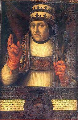 Retrato de Calixto III del que se conmemoran los 550 años de su fallecimiento.
