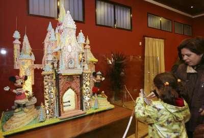 Castillo de Disney elaborado en el Museo del azúcar de Rute