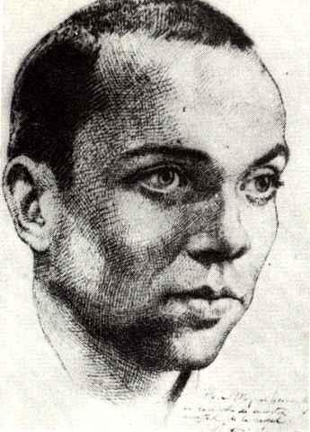 Retrato a lápiz de Miguel Hernández realizado por el dramaturgo Antonio Buero Vallejo a petición del poeta oriolano durante su estancia en la prisión en Madrid, a los pocos días conocer su sentencia de muerte