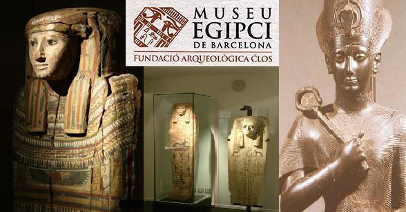 Más de 130 esqueletos y restos humanos se exhiben en el Museo Egipcio de Barcelona
