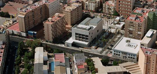 Vista aérea del nuevo edificio del Museo Arqueológico de Almería