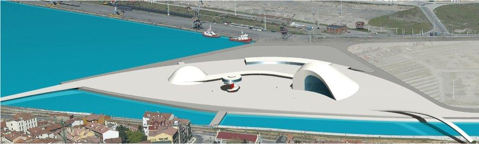 Imagen virtual del Centro Cultural Oscar Niemeyer