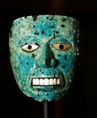 Máscara de jade perteneciente a la exposición Moctezuma