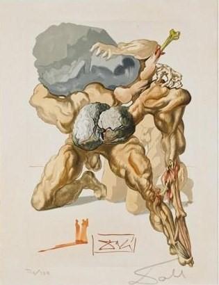 """Una de las xilografías que realizó Dalí para ilustrar """"La Divina Comedia""""."""