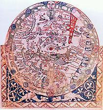 El Mapa del Salterio (cuyo nombre deriva del Libro de los Salmos en que fue hallado) es caracterstico del mapamundi medieval
