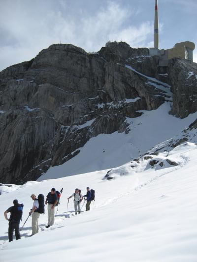 Die Bergstation Säntis im Auge