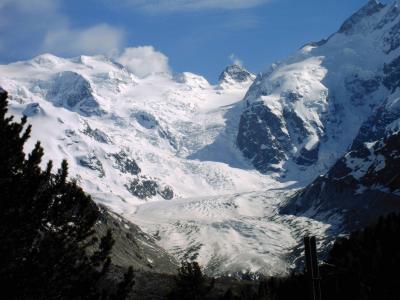 Morteratsch-Gletscher (Pontresina - CH) - im Erdkunde-Studium bei einer Exkursion komplett von oben bis runter