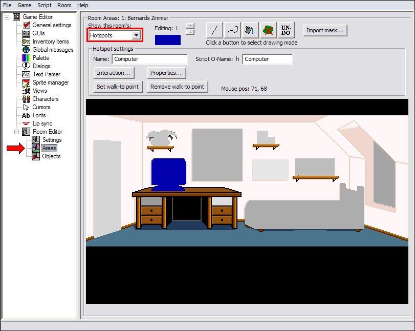 Room Editor -> Areas -> Hotspots