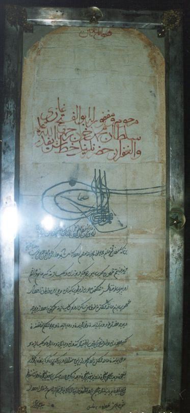 fatih ahidname