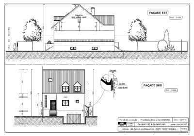 Etudes conception et saisie des plans permis de for Permis construire maison individuelle