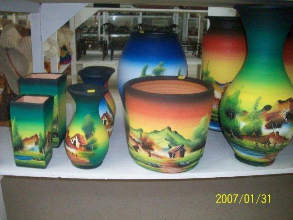 jarrones floreros y mazetas decoradas para interior y exterior esculturas y pisapapeles decorados - Jarrones Decorados