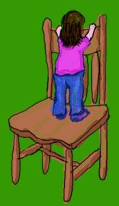 Las sillas no son un juguete, se pueden lesionar los niños