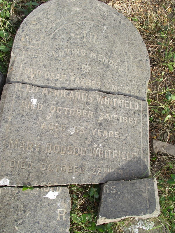 Vandalised headstone for Leo and Mary