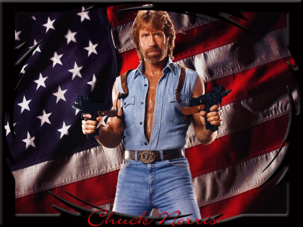 Chuck Norris Frente a Un espejo