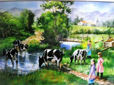 Galer a art stica piedad hoyos pinturas - Cuadros de vacas ...