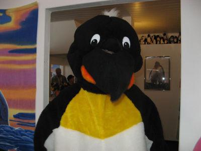Da laufen ja noch ganz andere Pinguine im Museum herum...