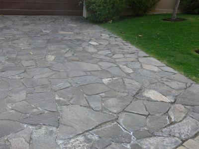 Pisos pisos piedra natural gris for Pisos de piedra para terrazas