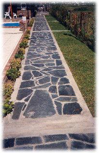 Pisos pisos piedra natural pizarra negra for Piedra natural pizarra
