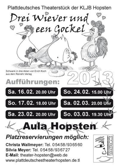 Theaterplakat 2013