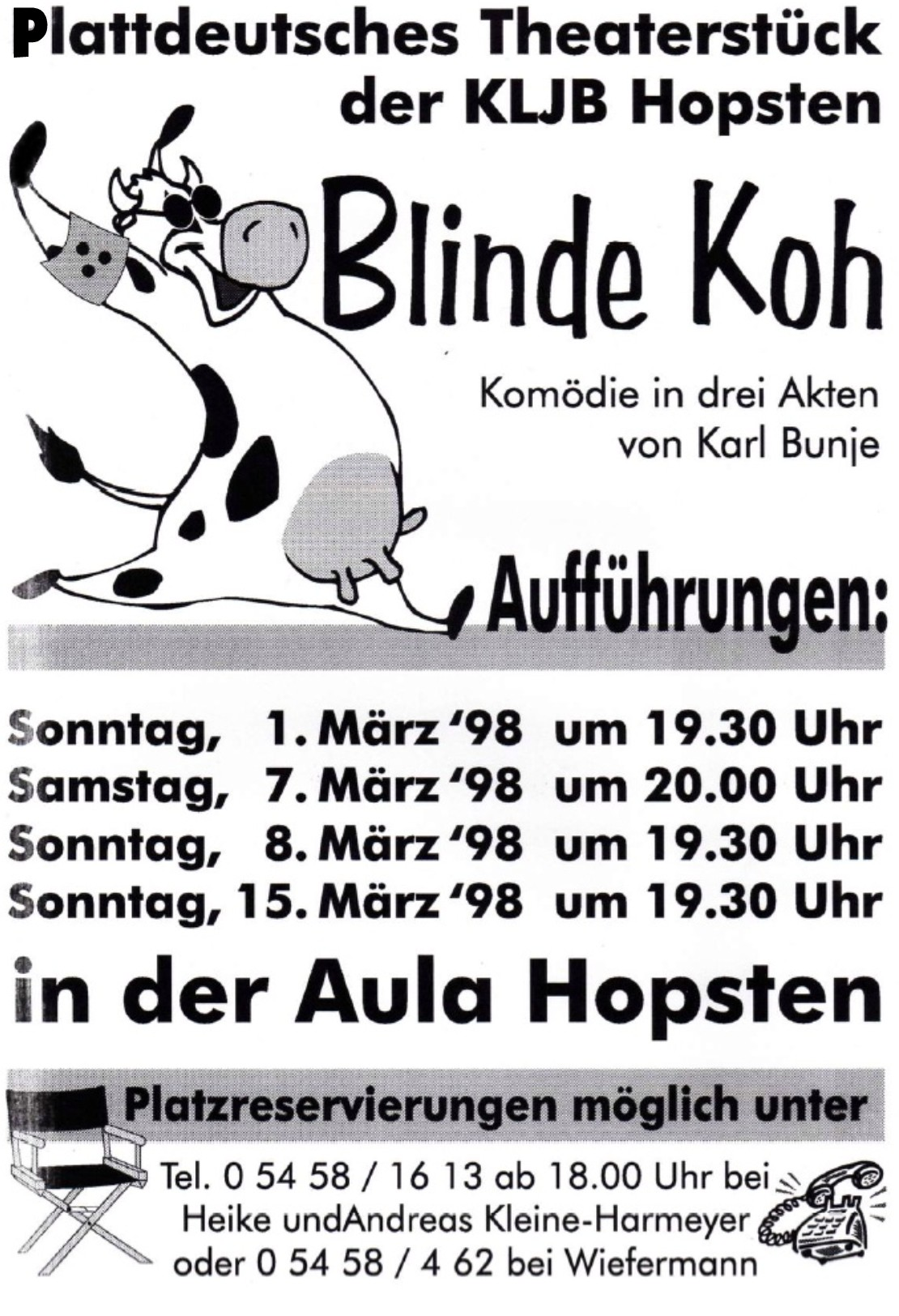 Theaterplakat 1998