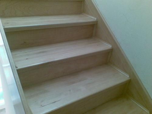 finální úprava schodů
