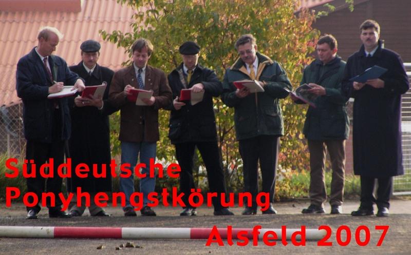 Die gestrenge Körkommission bei der Hengstkörung 2006 in Alsfeld