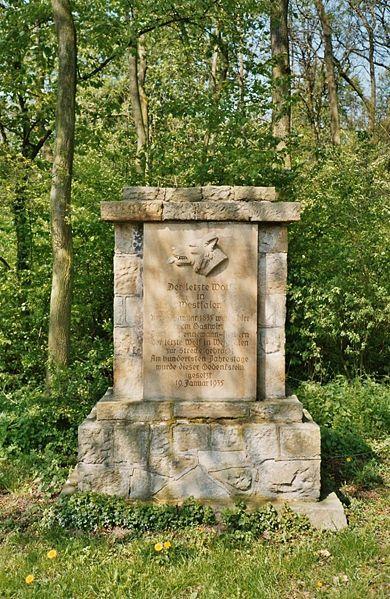 Denkmal für den letzten freien Wolf im Münsterland bei Ascheberg!