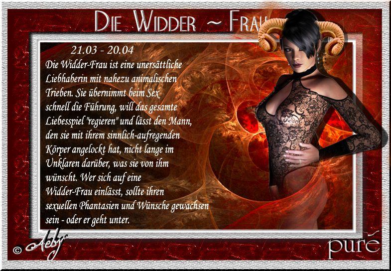 Widder Frau Heute