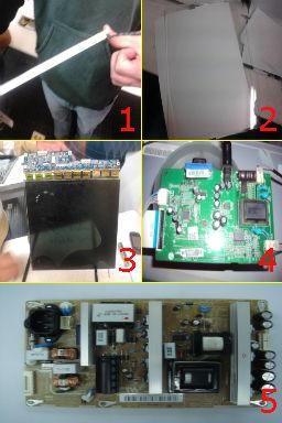 Partes internas de un monitor LCD