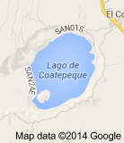 Mapa del Lago de Coatepeque