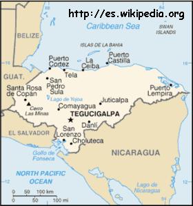 Mapa del Golfo de Fonseca