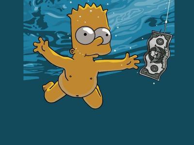 Bart Simpson Trippy Wallpaper
