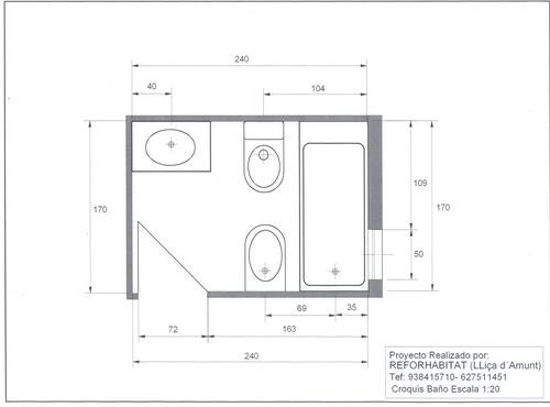Reformh bitat presupuestos ba o for Medidas de muebles en planta
