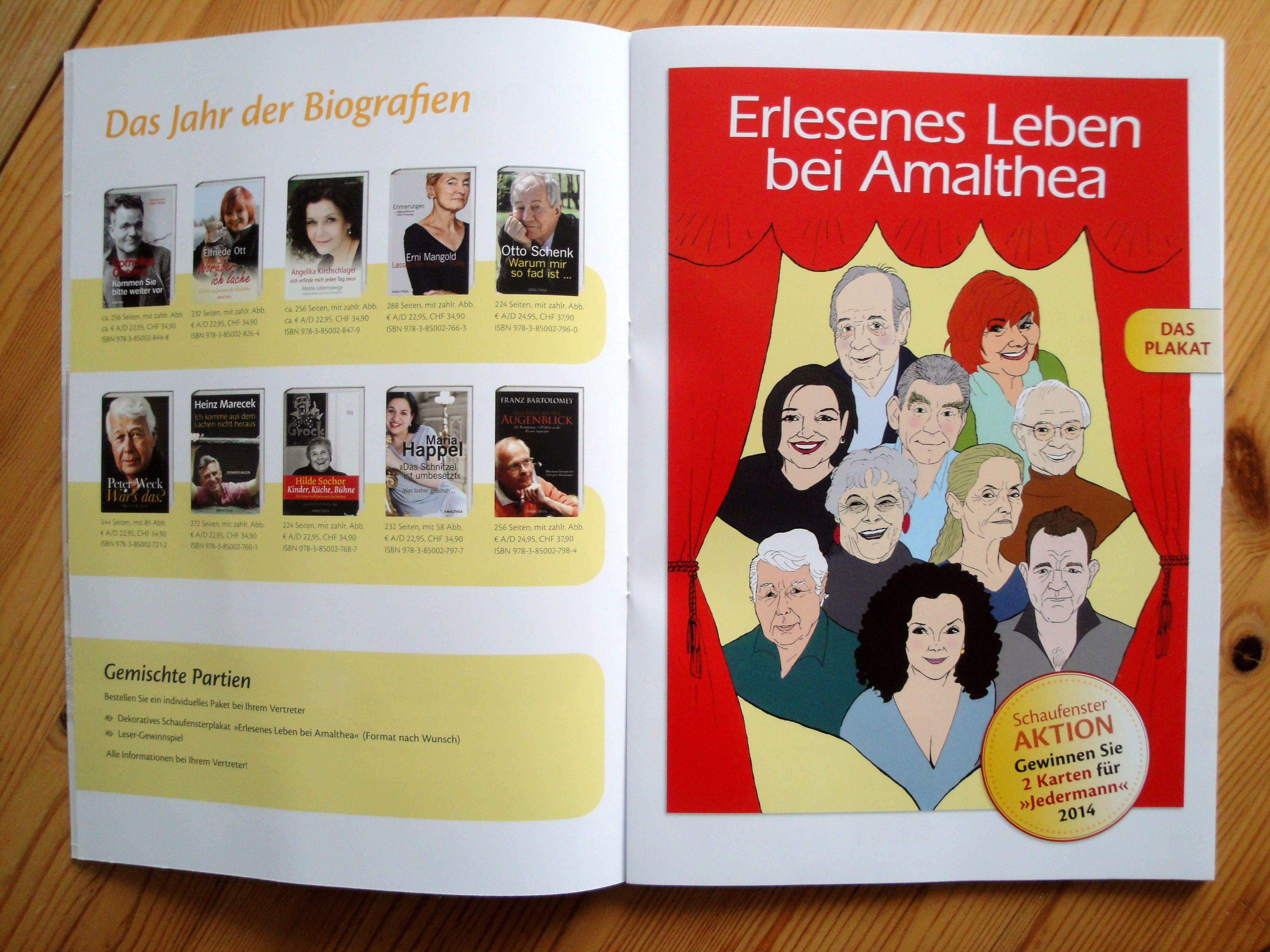 AMALTHEA Herbstkatalog 2013 / Plakatabbildung: Reinhard Trinkler