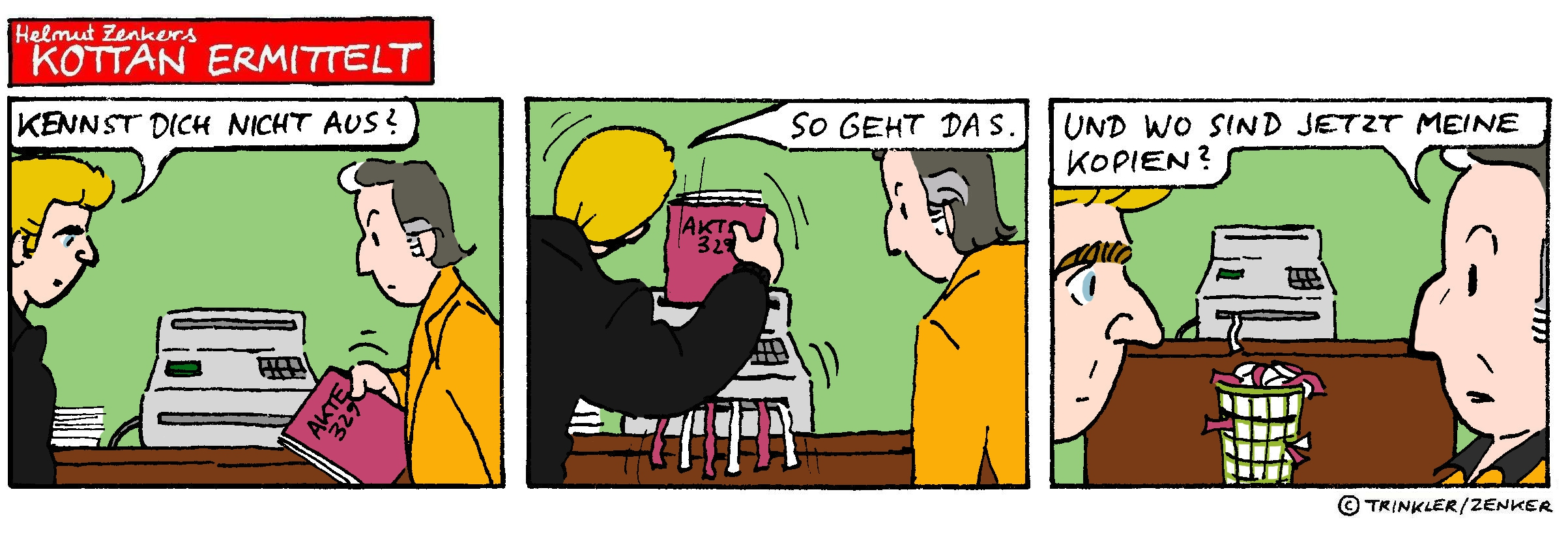 Kottan ermittelt - Comicstrip Nr. 9