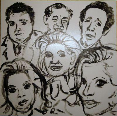 Skizze zum Österreichischen Kabarettpreis 2012 / (c) Reinhard Trinkler