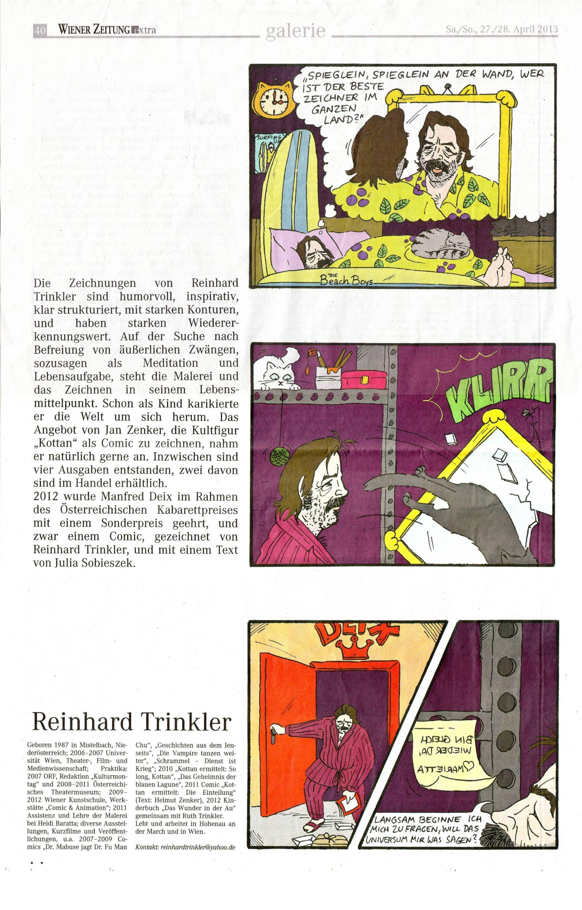 Reinhard Trinkler - Wiener Zeitung